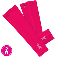 Pink Cancer Awareness Arm Sleeves