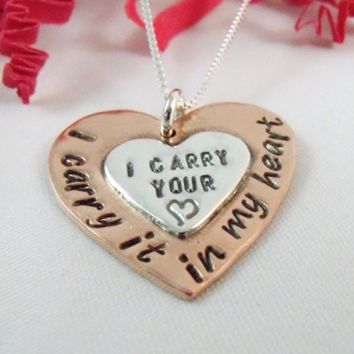 I Carry Your Heart I Carry It In My Heart Necklace