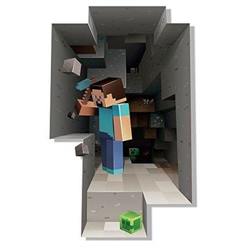 Minecraft Digging Steve Wall Cling Decal