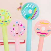 Kawaii Pastel Donut Pens, School Supplies, Cute Stationery