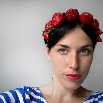 UTHA strawberries headband - necklace