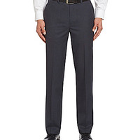 Murano Easy-Care Travel-Friendly Flat-Front Dress Slacks - Navy