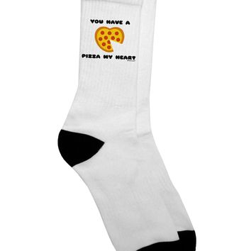 You Have a Pizza My Heart Adult Crew Socks - by TooLoud