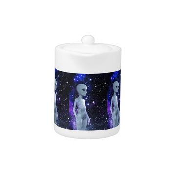 Outer Space Beings on Teapot