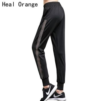 Heal Orange Plus Size Loose Women Sports Fitness Clothing Sportswear Gym Yoga Pants Leggins Breathable Pants Sports Trousers