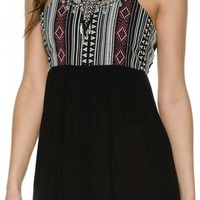 ANGIE EMBROIDERED DRESS