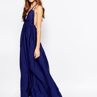 BCBGMAXAZRIA Maxi Dress with Halter Neck