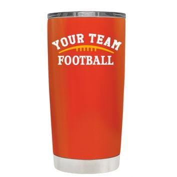 TREK Custom Football Team on Vermilion 20 oz Tumbler Cup