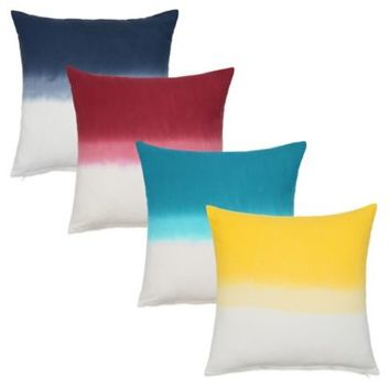 Nine Space Dip-Dye Ombré Square Decorative Pillow