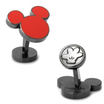 Red Mickey Mouse Silhouette Cufflinks BY DISNEY