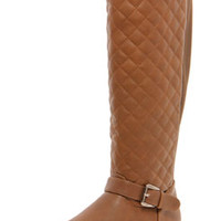 Tamsin Quilted Elastic Back Knee High Boots