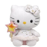 Ty Beanie Baby Hello Kitty Plush - Gold Angel
