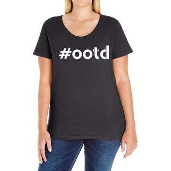 Ootd Outfit Of The Day Ladies Curvy T-Shirt