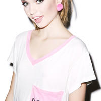 Wildfox Couture Double Romeo Pocket V-Neck Tee Dream House
