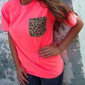Jacinth Leopard Printed Short Sleeve T-Shirt
