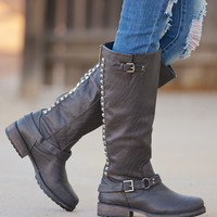 All About That Bass Boots - Grey