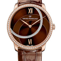 Girard-Perregaux 1966 Lady 38mm Watch With Brown Alligator Strap