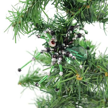 Halloween Witch Cabuchon Spider Clip-On Ornament Halloween Ornament