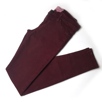 Current Elliott washed burgundy stretch skinny jeans sz 26