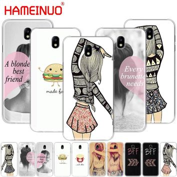 HAMEINUO Best Friends Emoji cover phone case for Samsung Galaxy J3 J5 J7 2017 J527 J727 J327 J330 J530 J730 PRO