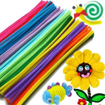 100PCS Chenille Stems Colorful Sticks Kids Toy Kindergarten DIY Handcraft Material Creative Kids Educational Toys 88 M09