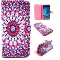 ETHNIC Style Leather Case Cover Wallet for iPhone & Samsung Galaxy