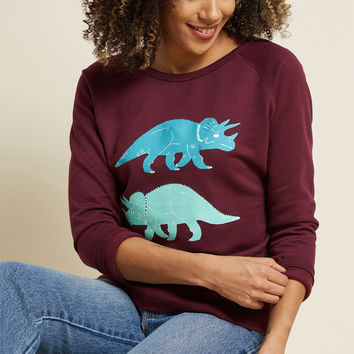 Try, Triceratops Again Graphic Sweatshirt