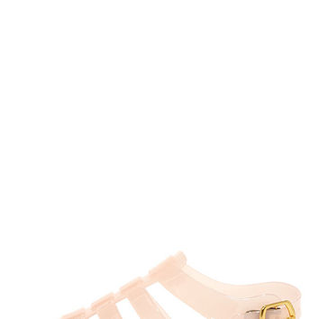 So Jelly I'm Jam Nude Jelly Sandals