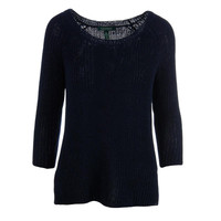 Lauren Ralph Lauren Womens Knit Jewel Neck Pullover Sweater