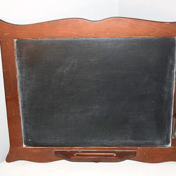 Rustic Framed Kitchen Wall Mounted Chalkboard, Farmhouse Drawing Board with Eraser