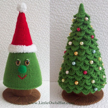 009 Christmas Tree New Year pattern - Amigurumi Knitting and Crochet Pattern - by Zabelina Etsy