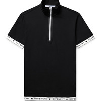 Givenchy - Slim-Fit Stretch-Cotton Piqué Half-Zip Polo Shirt