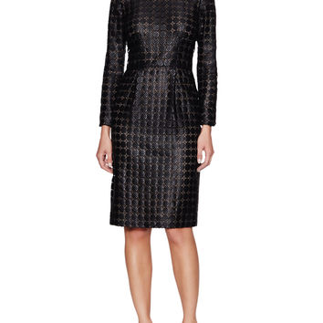 Giambattista Valli Women's Lace Long Sleeve Sheath Dress - Black -
