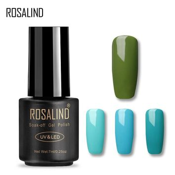 Rosalind Gel 1S 7ML Black Bottle Green Color Series Nail Gel Polish Healthy and Eco-friendly Soak-off UV Color Gel nail polish