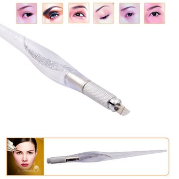 Famous Brand CHUSE M3 Eyebrow Microblading Manual Pen Permanent Makeup Machine Tattoo Set Unique Appearance Design White Color