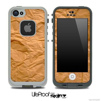 Brown Paper Bag Skin for the iPhone 5 or 4/4s LifeProof Case