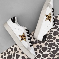 Leopard Star Patch Decor Sneakers