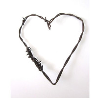 Barbed Wire Heart The Mended Heart Old Rusty by TheLonelyHeart