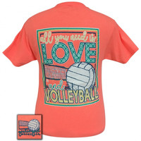 Girlie Girl Preppy All you need is love and volleyball T-Shirt