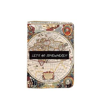 Vintage Old World Map Name Customized Cute Leather Passport Holder - Passport Protector - Passport Covers - Passport Wallet_SUPERTRAMPshop