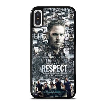 FAST FURIOUS 7 PAUL WALKER iPhone X Case Cover