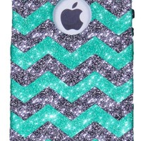 iPhone 5S Case - OtterBox Commuter Series - Retail Packaging - Glitter Smoke Chevron Wintermint/Black