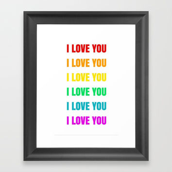 I LOVE YOU Framed Art Print by Love from Sophie