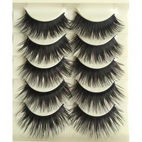 5Pairs Eyelash Extension Eyelashes Thick Long False Eyelashes Natural False Lashes Makeup Eye Lashes Fake Eyelashes Make Up Tool