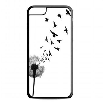 dandelion bird tattoo For iphone 6 plus case