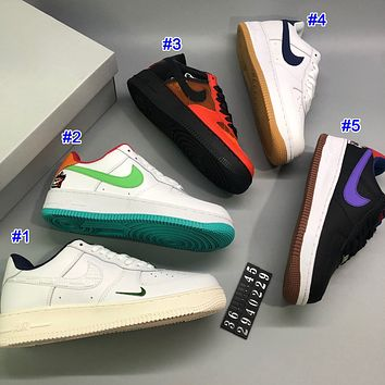 Nike Air Force Fashion Couple Stitched Low-Top Casual Sneakers