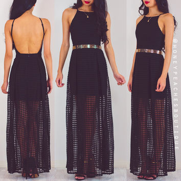 Lost In Your Eyes Maxi Dress - Black