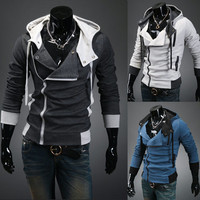 New stylish Cardigan casual Korean men's Hooded cardigan sweater jackets