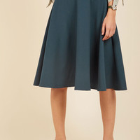 Bugle Joy A-Line Skirt in Lake | Mod Retro Vintage Skirts | ModCloth.com
