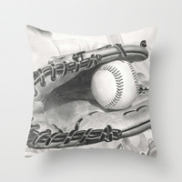 Baseball Throw Pillow by aurelia-art